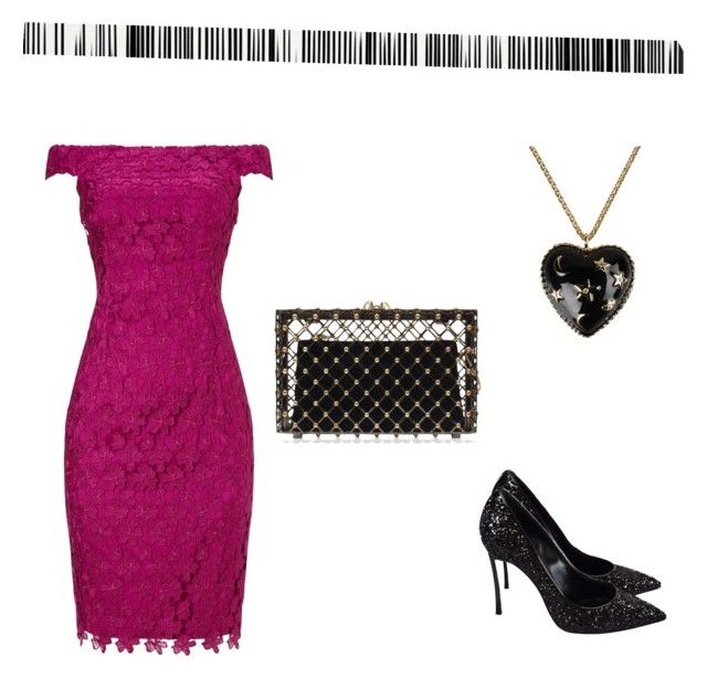 """""""Untitled #89"""" by amyisjoyful on Polyvore featuring Adrianna Papell, Casadei, Charlotte Olympia, Moschino and Art Addiction"""