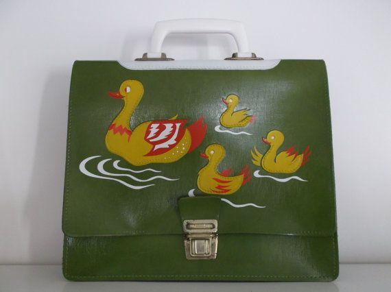 schoolbag  cartable d'écolier  sac vintage par PrettyFrenchAttic