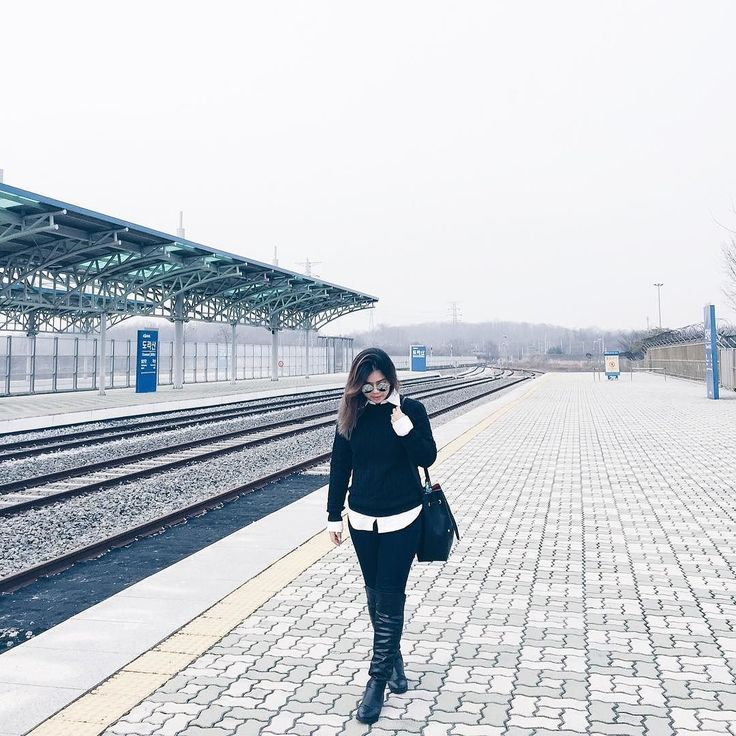 Having the best time eating and shopping in Seoul  --- #ootd at the DMZ behind me is the way to North Korea.  Follow my Seoul story on snapchat for instant updates (kimleow)  #kimleowtravelsSeoul #kimleowwears #seoul_korea #seoul