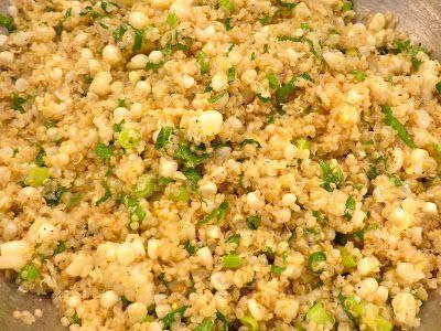 Quinoa with Corn, Scallions & Mint | Favorite Recipes | Pinterest