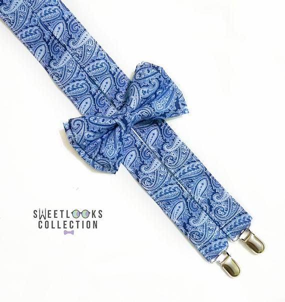 Royal Blue Suspenders