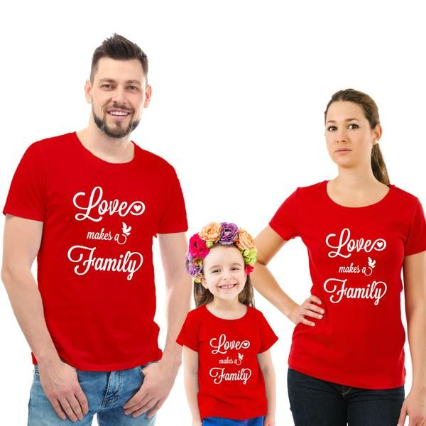 Love makes a Family T-Shirt | Matching family outfits, Family shirts  matching, Family outfits