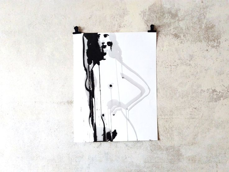 MiniMalist Ink Nude – Figure Drawing – Modern Artwork Black-and-White – Wallart – Homedecoration – Design – Female Nude – Artcollector Gifts
