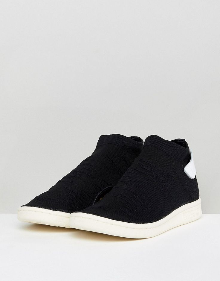 adidas Originals Black Stan Smith Primeknit Sock Sneakers - Black
