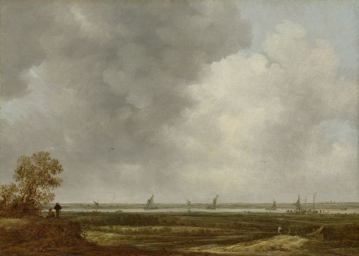Panoramic View of a River with Low-lying Meadows, Jan van Goyen, c. 1644