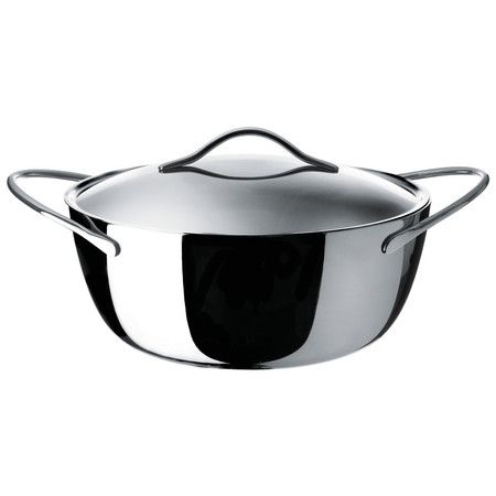 Shiny perfection Alessi - Domenica Casserole Pan & Lid