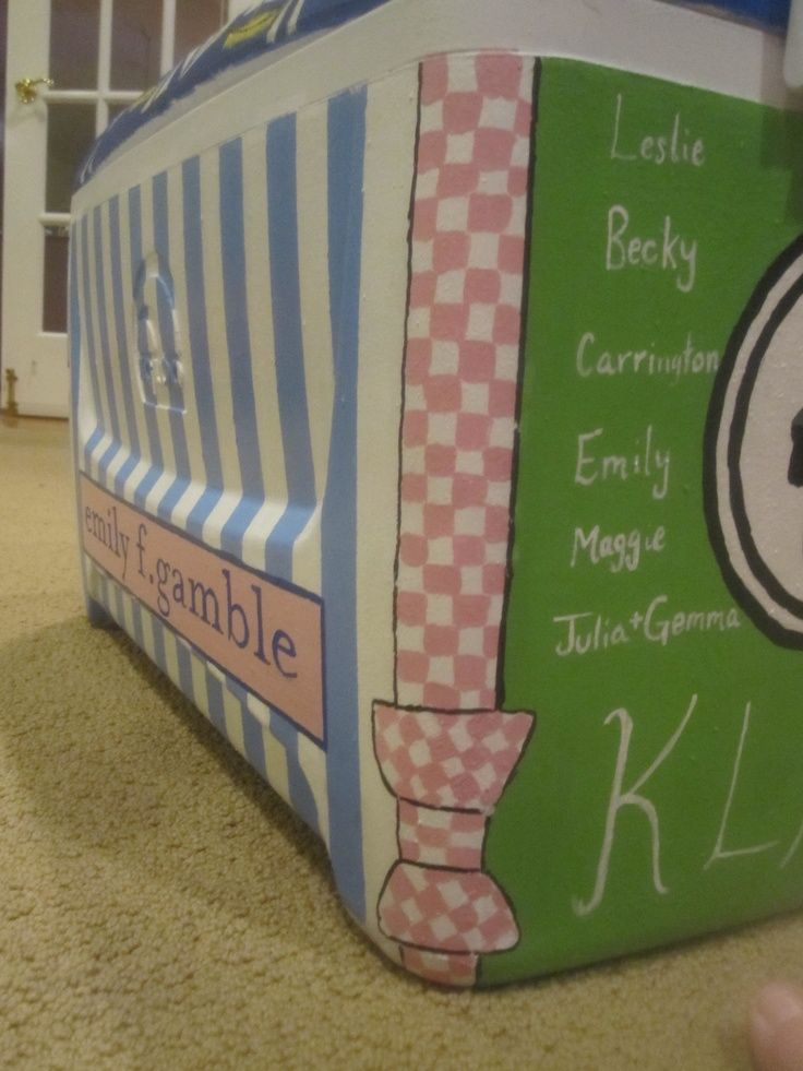 hand painted cooler -- front name