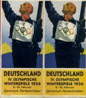 Jeux Olympiques d'Hiver Garmisch Allemagne 1936 - Guide officiel