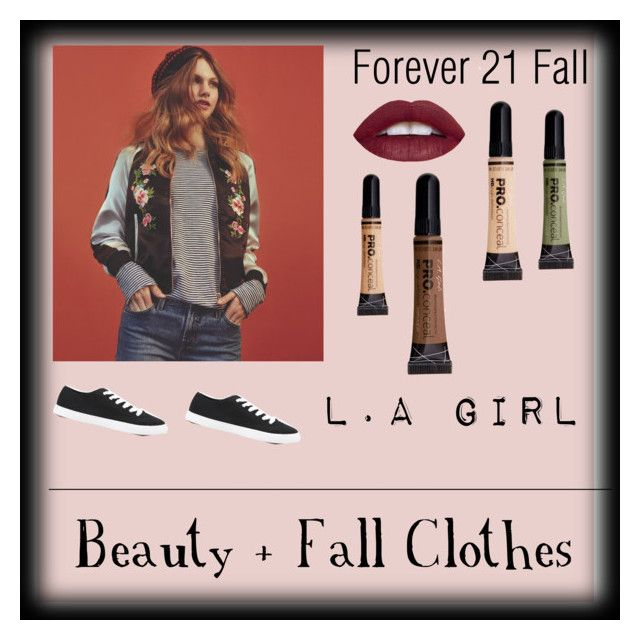 """""""Forever 21 + L.A Girl"""" by wolfbolt ❤ liked on Polyvore featuring Forever 21"""