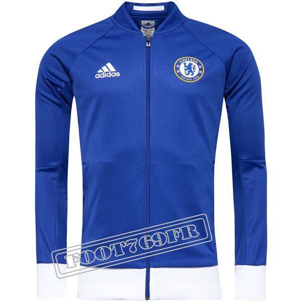 Nouveau: Veste Chelsea Bleu/Blanche 2016 2017 | Veste Survetement - Foot769Fr