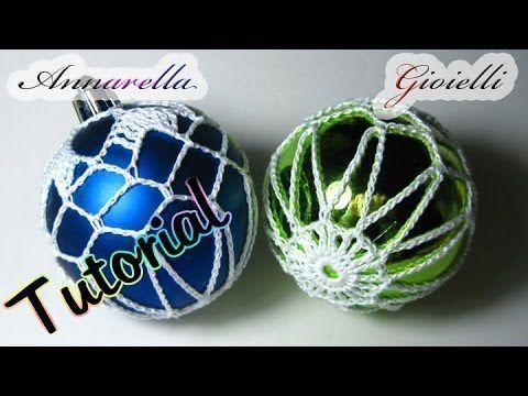 Palla di Natale ricamata all'uncinetto | Tutorial gratis su Youtube Crochet Christmas ball | Free tutorial on Youtube