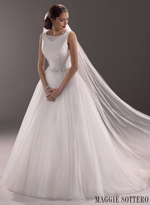 24 best wedding dresses for lean column bodyshape images for Maggie sottero grace kelly wedding dress