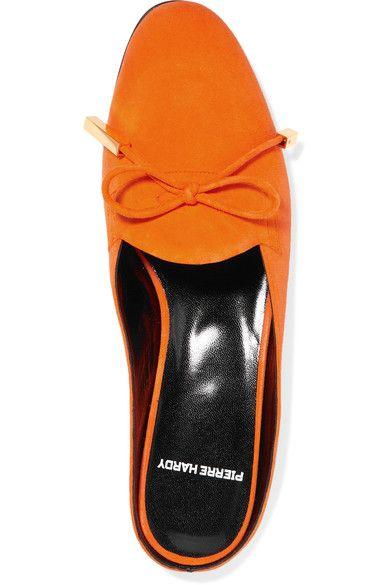 Pierre Hardy - Mademoiselle Jacno Suede Slippers - Bright orange - FR40.5