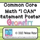 This kit contains 55 I CAN statement posters for the high school Geometry common core standards.  Many standards are broken down, resulting in mult...
