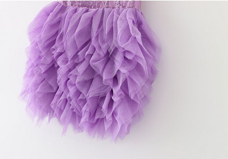 Корейская девушка блестками платья лето 2015 мода кружева тюль принцесса платье партии бальные платья для маленьких девочек 5 шт./лот Фиолетовый