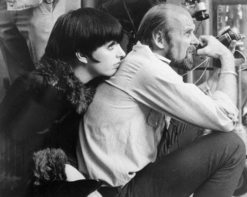 "On the set of ""Cabaret"" - Liza Minnelli and Bob Fosse"