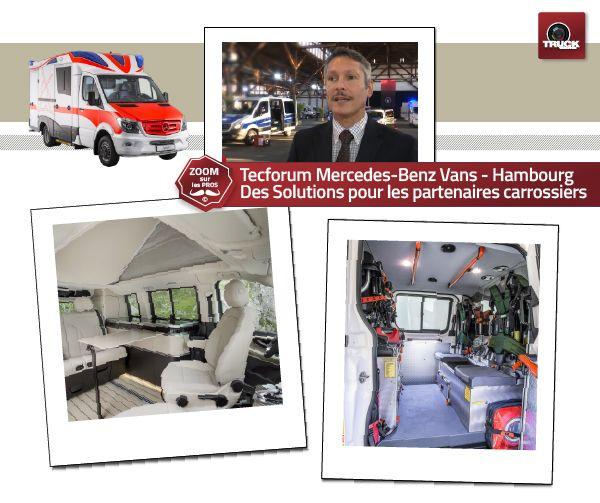 Mercedes-Benz Vans TecForum - Schuppen 52 Des spécialistes partenaires pour des véhicules personnalisés ultra-techniques