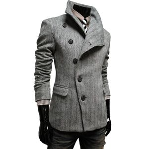 Men's Casual Wool Coat. Cool.