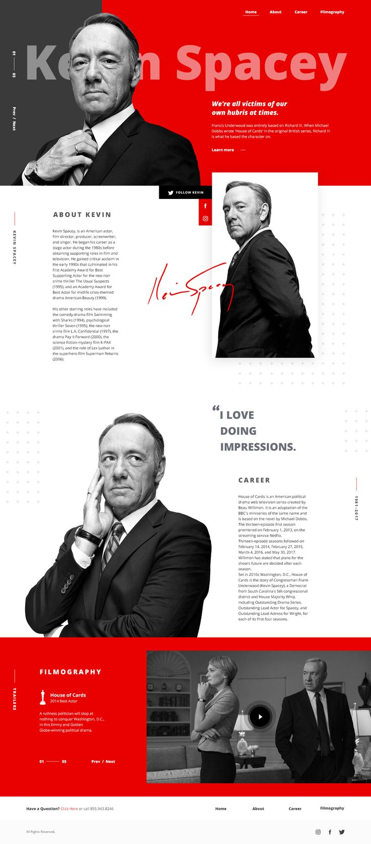 I lovee Kevin Spacey. Too bad his case just stop all his works