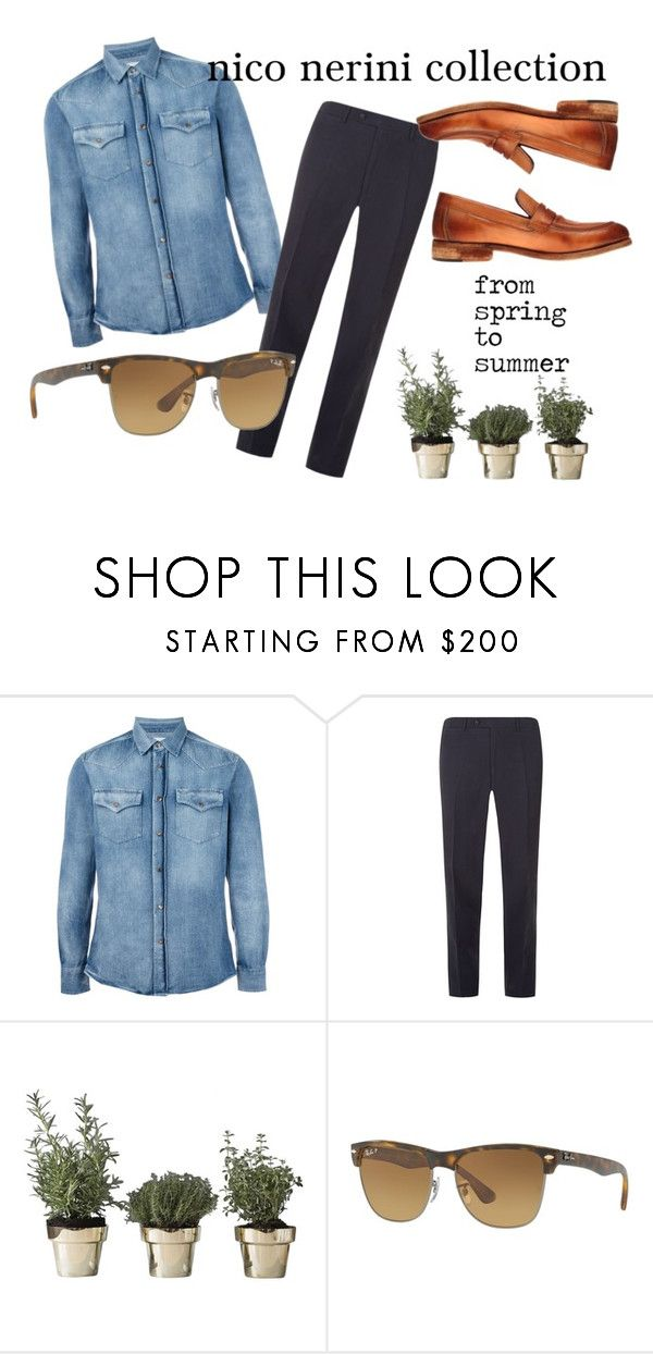 from spring to summer by nico-nerini on Polyvore featuring Brunello Cucinelli, Canali, Ray-Ban, Skultuna, men's fashion and menswear