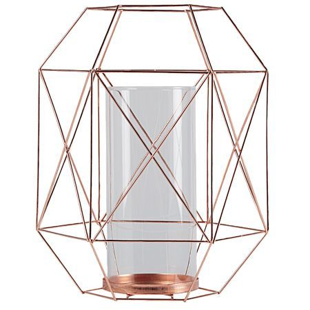 Living & Co Candle Holder Graphic Wire Brass