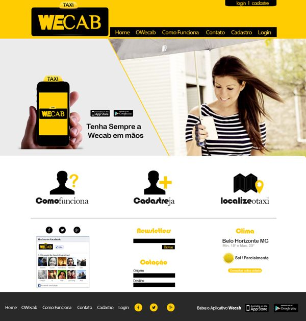 Layout - Taxi WECAB on Behance