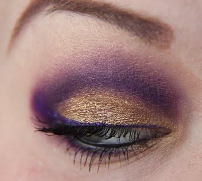 purple and goldPurple Cheer Makeup, Gold Cheer Makeup, Nail Designs Purple And Gold, Lsu Nails Design, Eye Shadows, Husky Games, Gold Makeup, Geaux Tigers, Tigers Eye