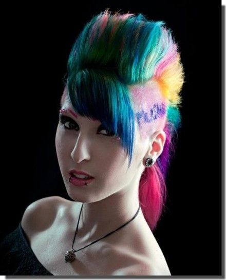 Girl Hairstyle Mohawk: 127 Best Images About Girls With Mohawks! On Pinterest