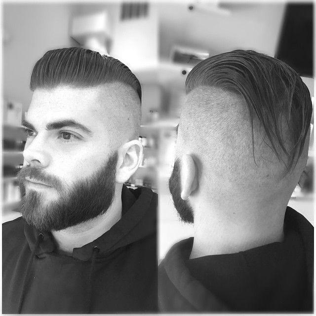 Image result for short slicked back pomp haircut