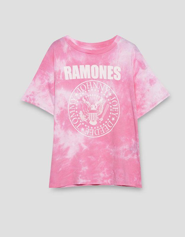 Tie-dye Ramones T-shirt - New - Woman - PULL&BEAR Croatia