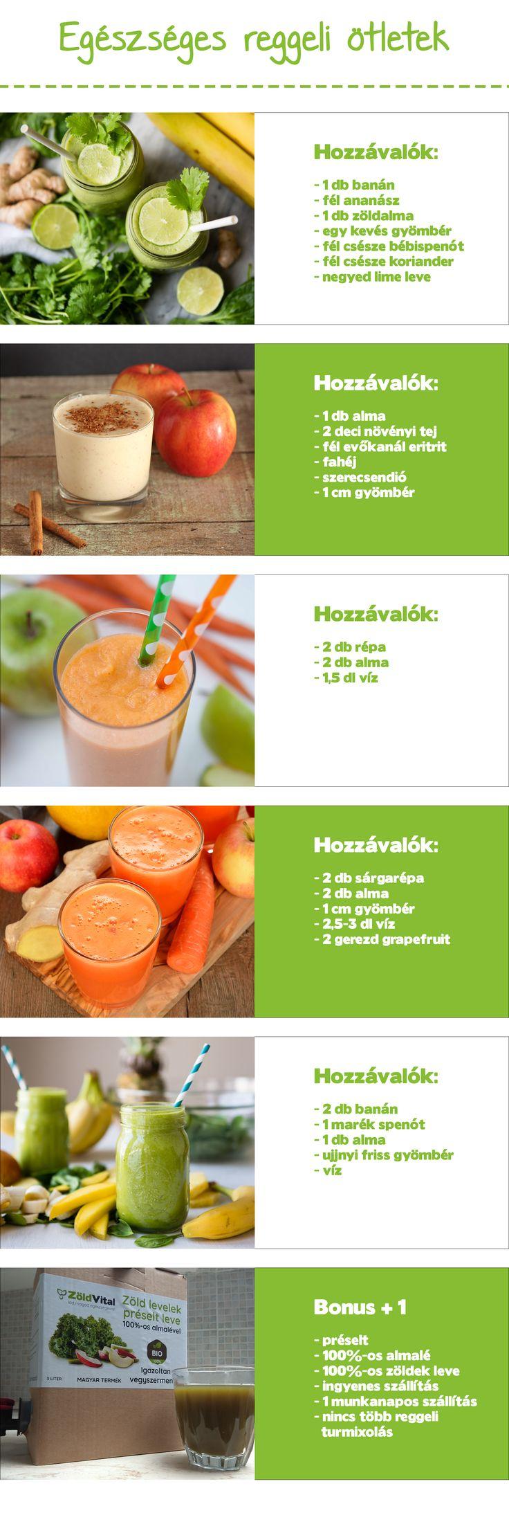 Egészséges reggeli ötletek. Zöldturmix, turmix receptek reggelire. Bónuszként ismerd meg a Zöld italt is amelyről bővebb információt itt találhatsz:https://www.zoldvital.hu/italok-italporok-107/smoothie-zoldturmix-zoldital #zöldital #smoothies #turmix #recept