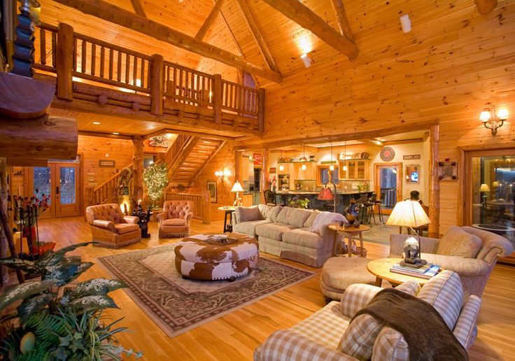 I love big fancy cabins in the woods!