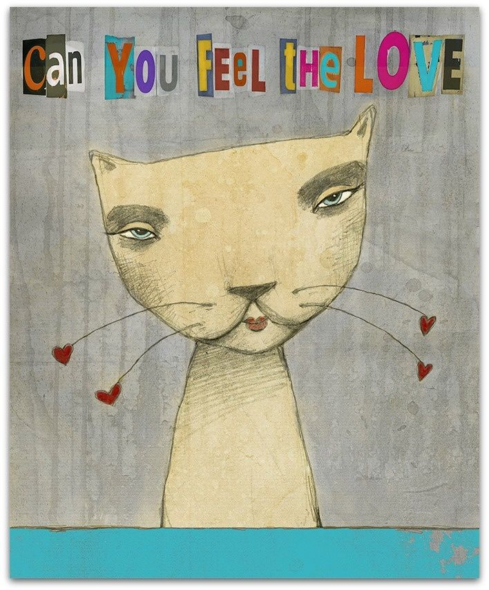 Print - Can you feel the love. www.jannelykkewilhelmsen.com