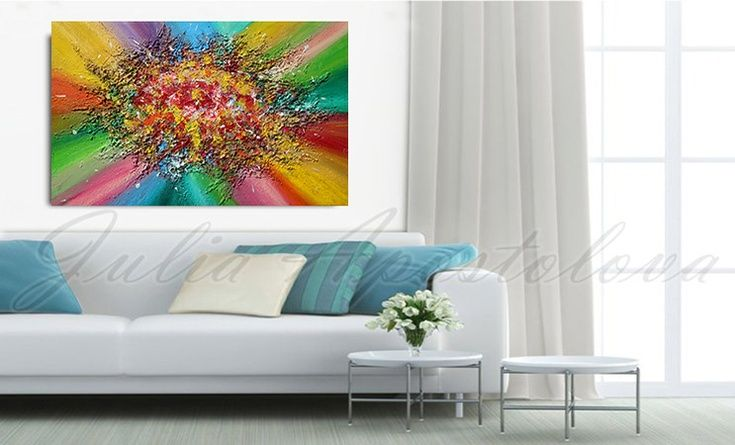 #ARTFINDER : #Art #Abstract #Painting #MixedMedia #Relief #Highquality #Fine #Stretched #Canvas with painted edges #rainbowcolours #rainbowpainting #colorfulpainting #colorfulabstract #floralabstract #floralpainting #readytohang #Original #Contemporary #Handpainted #Acrylic #RichTexture #Painting ''Rainbow Soul'', 2014