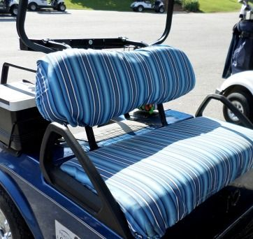 Sunbrella golf cart seat covers are made of ideal fabric that doesn't stain, mold or fade.