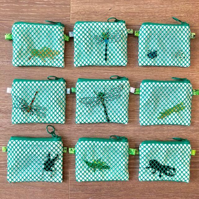 虫かごの財布 こども 小銭入れ ハンドメイド 昆虫 9月 11月限定