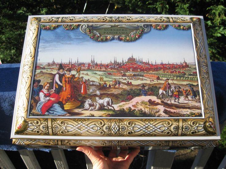 Cool Details about LEBKUCHEN SCHMIDT Cookie Tin Box Calendar GERMANY Nuremberg Panorama