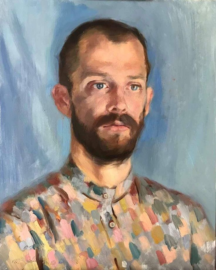A painting by our student (portraiture, oil on canvas), Florence Academy of Russian Art