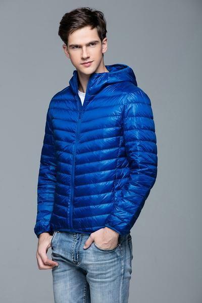 Jackets & Coats Man Winter Autumn Jacket 90% White Duck Down Jackets Men Hooded Ultra Light Down Jackets Warm Outwear Coat Parkas Outdoors Down Jackets