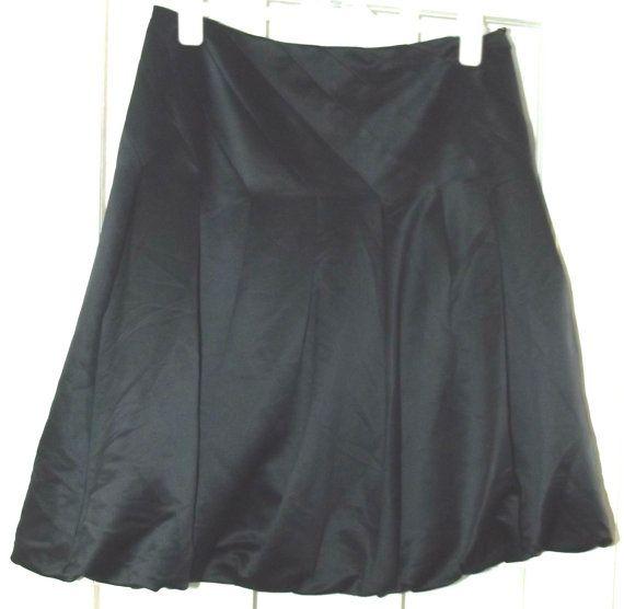 Womens Satin Look Black Evening Dress UK by BunkysVintageCrafts