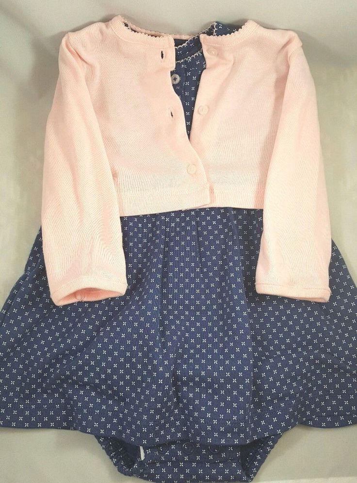infant girls nwot 6m 2 piece dress cardigan longsleeve fall set outfit