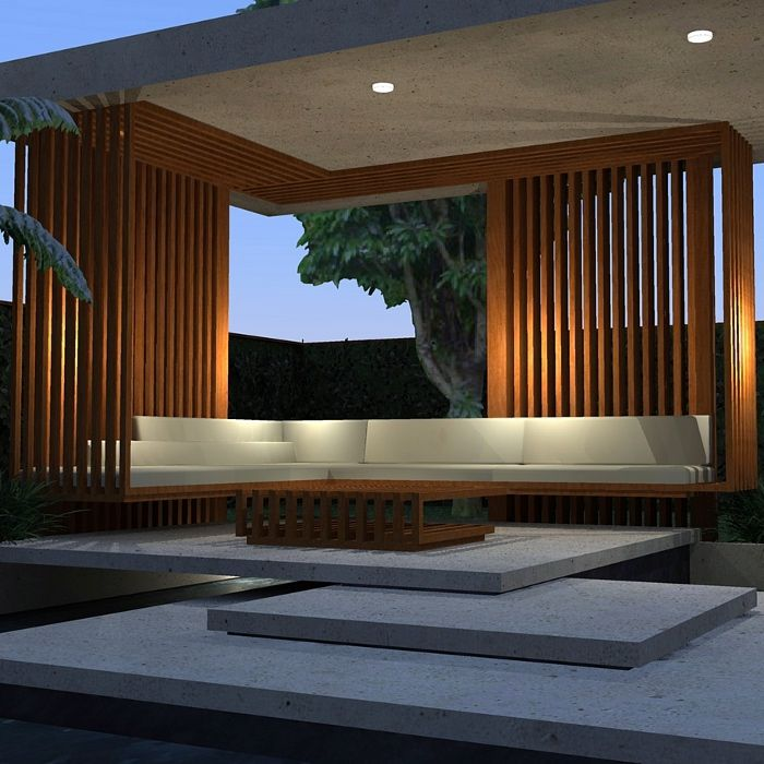Modern House With Zen Garden And Green Roof: Landform Consultants