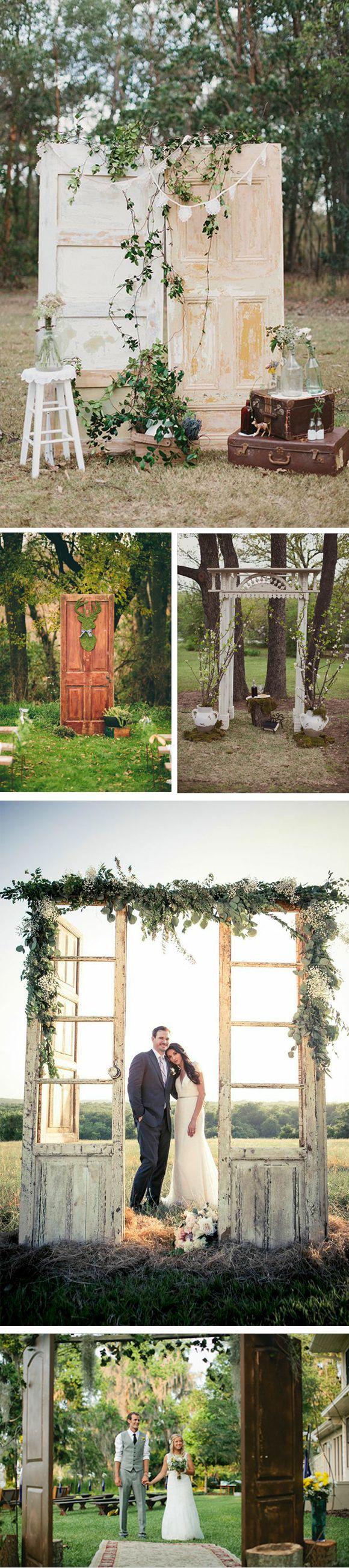 Decora el altar de tu boda con puertas