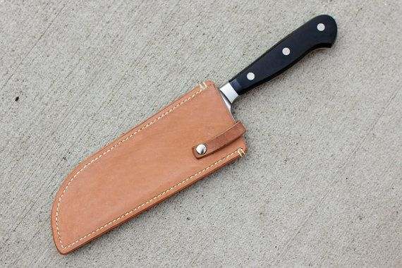 Items similar to Leather Sheath for Santoku Chef's Knife on Etsy