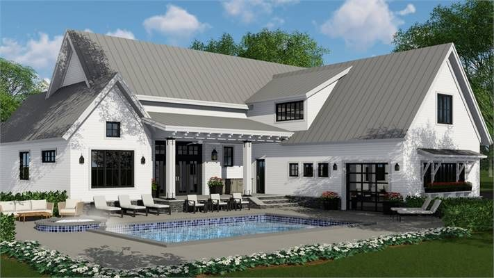 See More At Https Www Dfdhouseplans Com Plan 3404 Houseplan Homeplan Home Ho Modern Farmhouse Plans Farmhouse Style House Farmhouse Style House Plans