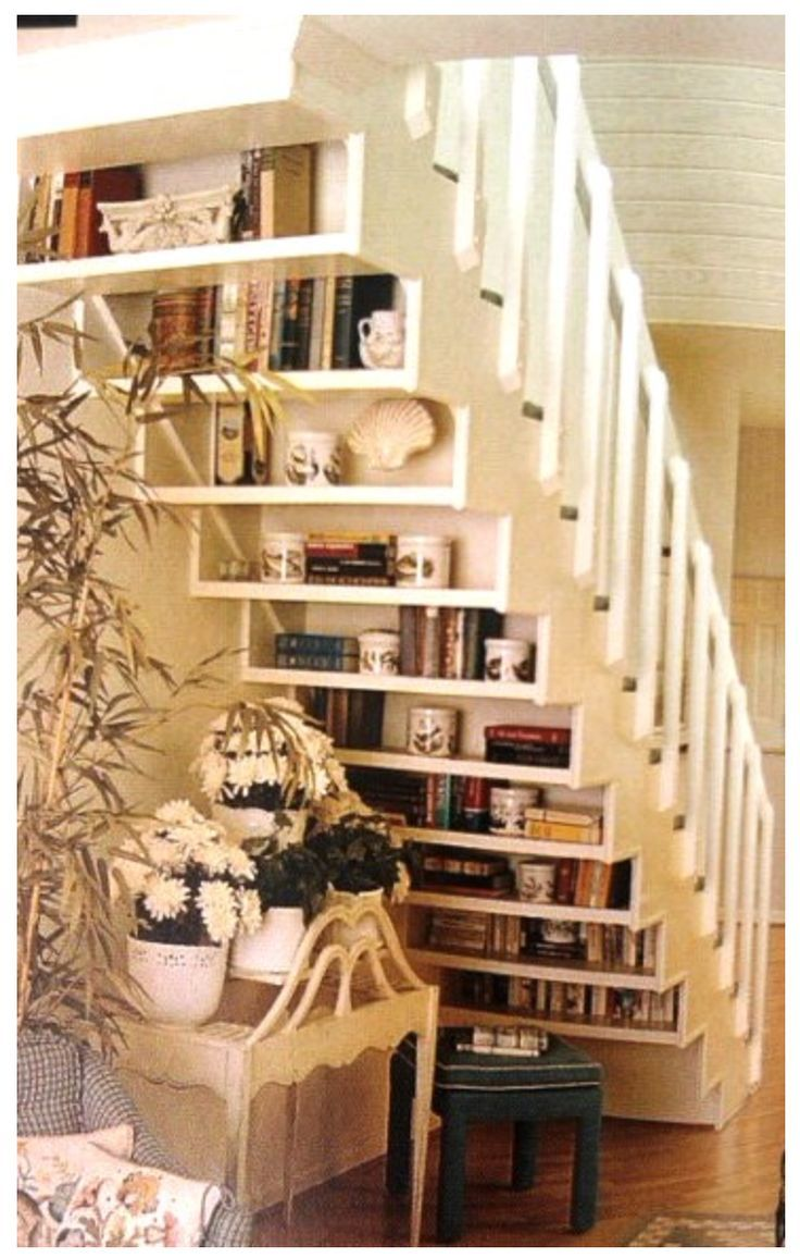 laundry under staircase Under stair shelves