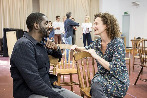 Rehearsal Pics: Rhashan Stone Anna Francolini and the cast of Our Town prepare for UK premiere at Almeida Theatre - photos