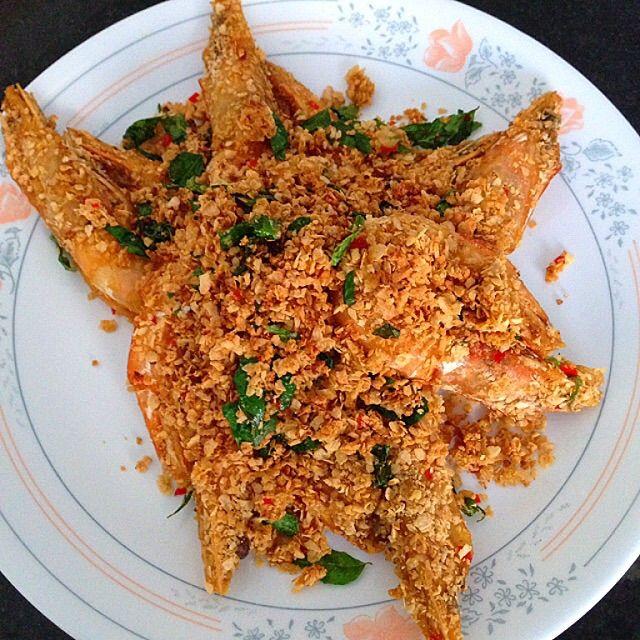 Nestum Prawns Recipe, 麦片虾 - coasterkitchen - Dayre