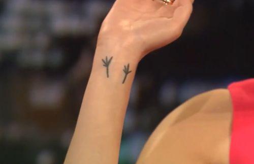 Blackbird feet designed by Paul McCartney for Emma stone