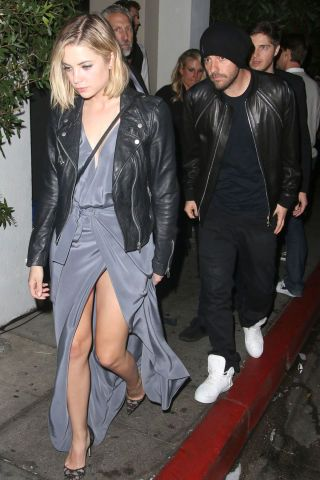 <p>Ashley Benson and boyfriend Ryan Good leaveChateau Marmont after attending aGrammy after-party thereon Feb.8, 2015, in Los Angeles.</p>